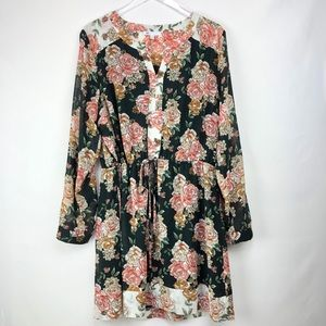 DR2 | Floral long sleeves dresses
